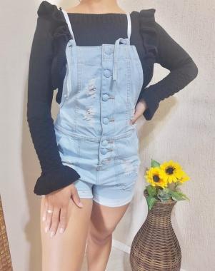 Macaquinho jeans Olivia