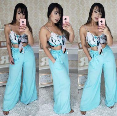 Pantalona azul tiffany