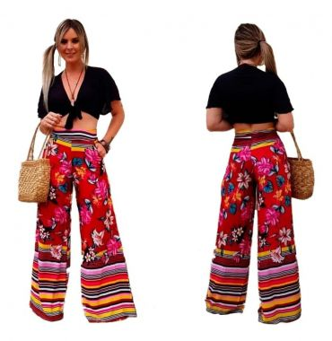 Pantalona Zíper Estampada