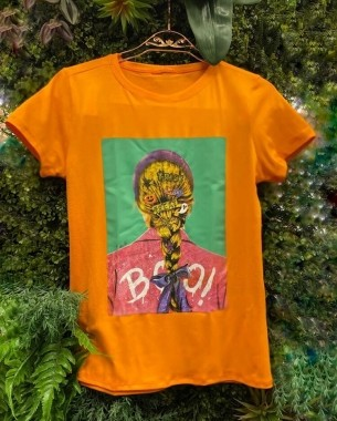 T-Shirts Trança Laranja