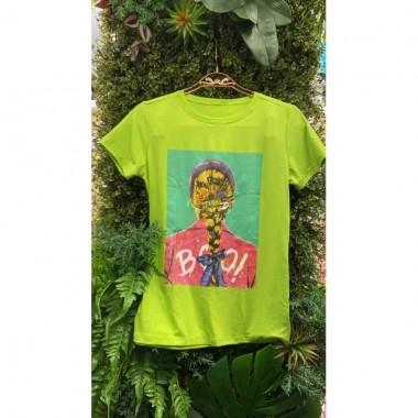 T-Shirts Trança Verde Limão