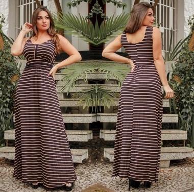 Vestido Leticia Listrado