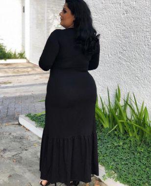 Vestido longo Decote Dália