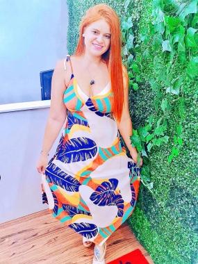 Vestido Pontas