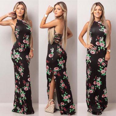 Vestido Tiras Floral
