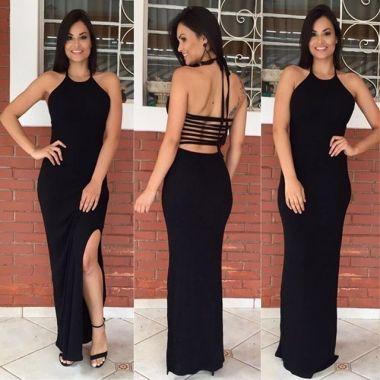 Vestido Tiras Liso