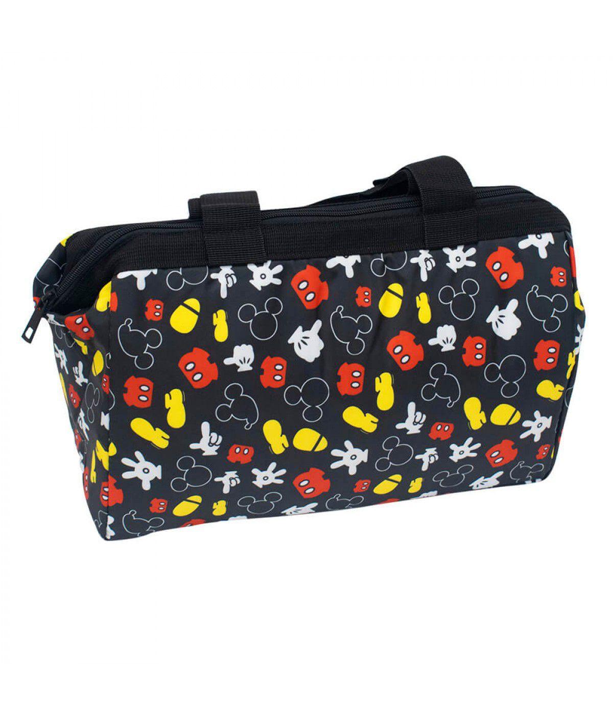 Bolsa Térmica Preta Partes Corpo Mickey