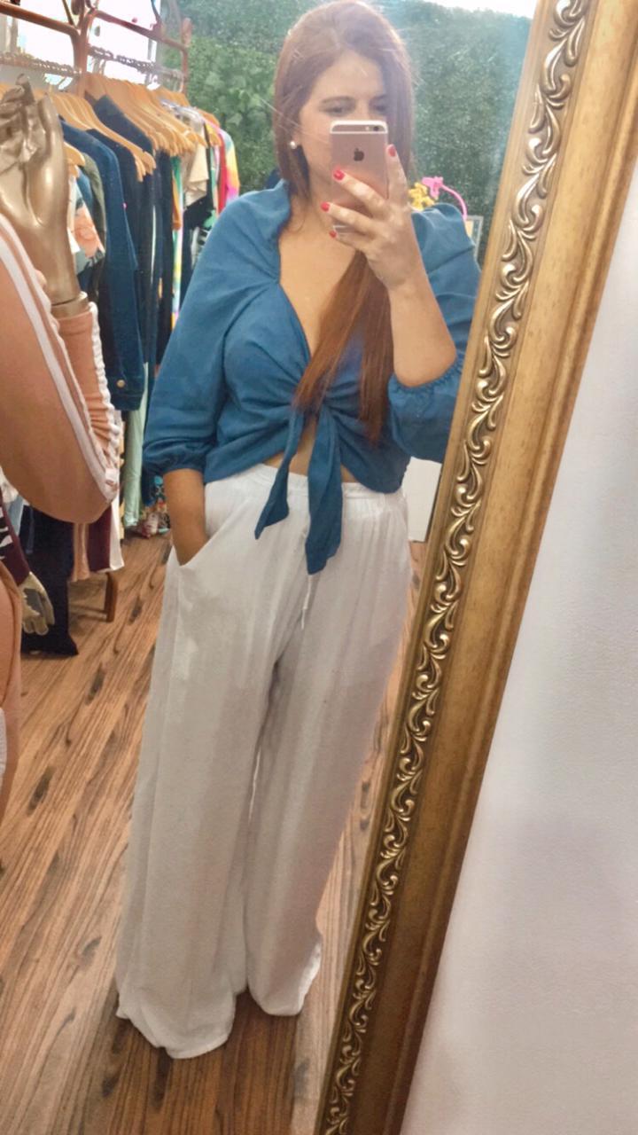 Calça Pantalona Sem Fenda - Diversas Cores