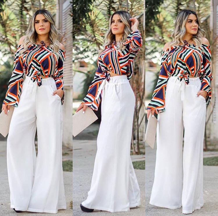 Calça Pantalona Branca