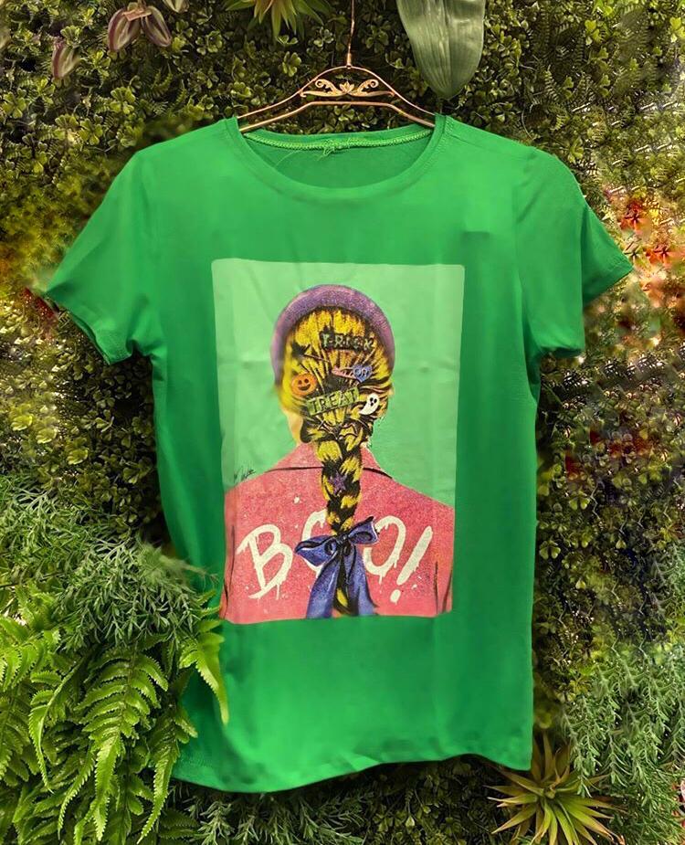 T-Shirts Trança Verde Bandeira