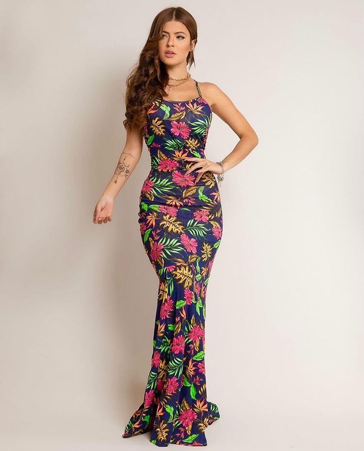 Vestido Calda Sereia Estampado