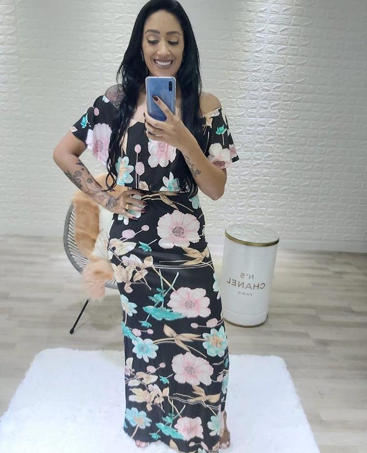 Vestido Ciganinha Estampado