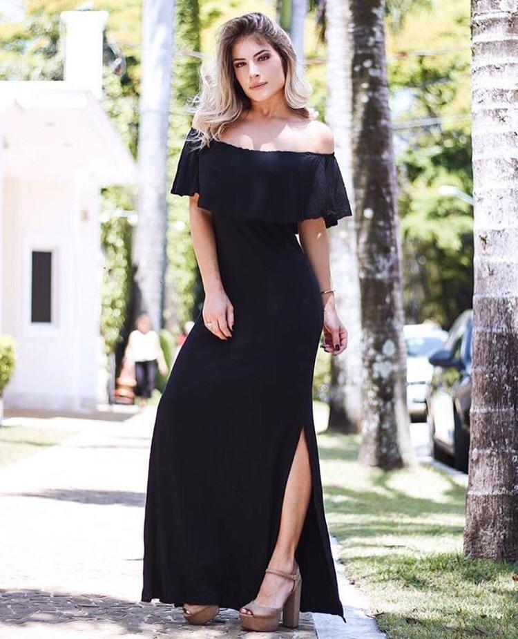 Vestido Ciganinha Liso