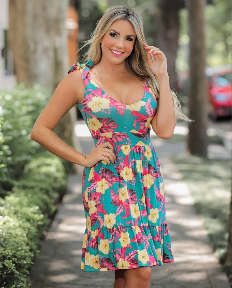 Vestido Laço Floral