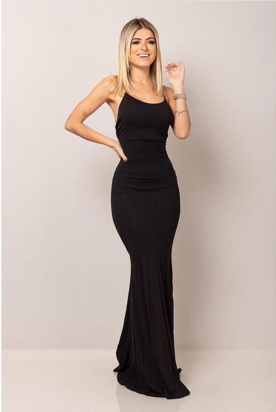 Vestido Sereia ( Cor Lisa)