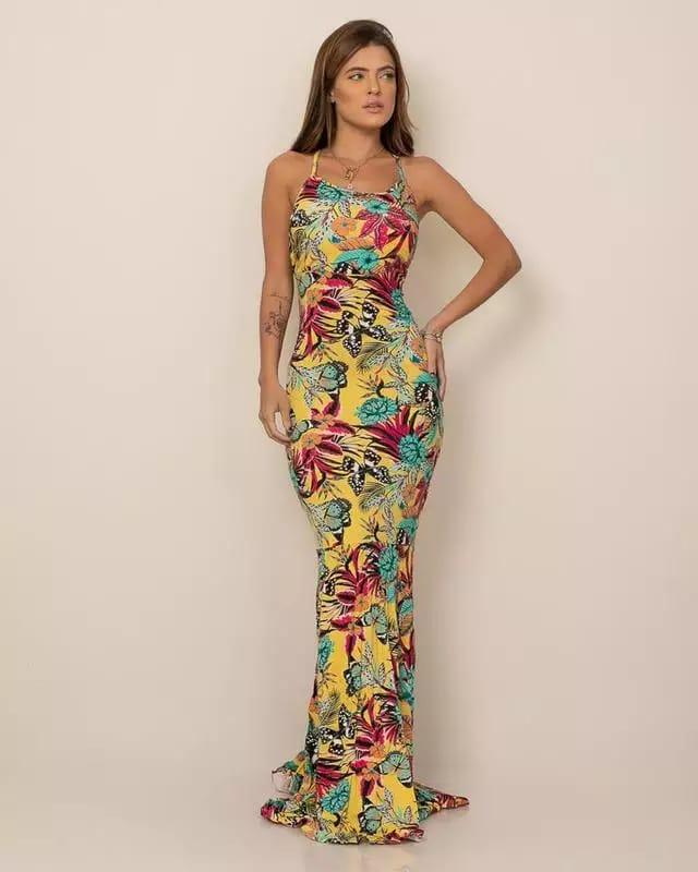 Vestido Sereia ( Estampado)