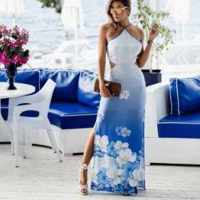 Vestido Pimpnella Bahamas Royal