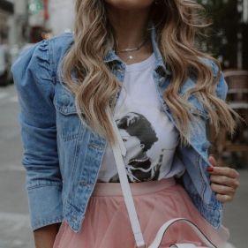 Jaqueta Jeans Claro Princess