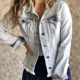 Jaqueta Jeans Claro Classic