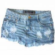 Saia Jeans Degrant Claro