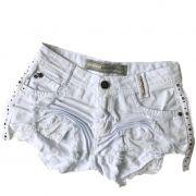 Short Feminino Degrant Destroyed Sideband Branco