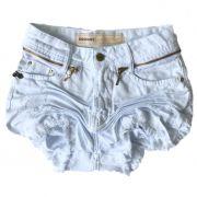 Short Feminino Degrant Cintura Alta Zíper Collection Branco