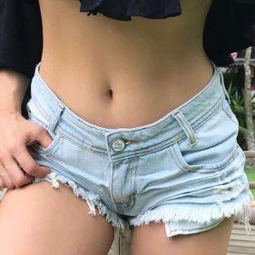 Short Jeans Claro Destroyed
