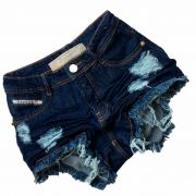Short Jeans Degrant Cintura Alta Original Denim Azul