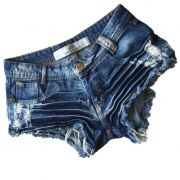 Short Jeans Feminino Degrant Destroyed Resinado