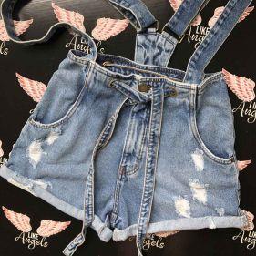 Short Jeans Mom Flex Suspender
