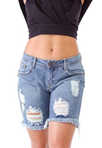 Bermuda Jeans Degrant Destroyed Tamanho 38 - Promoção