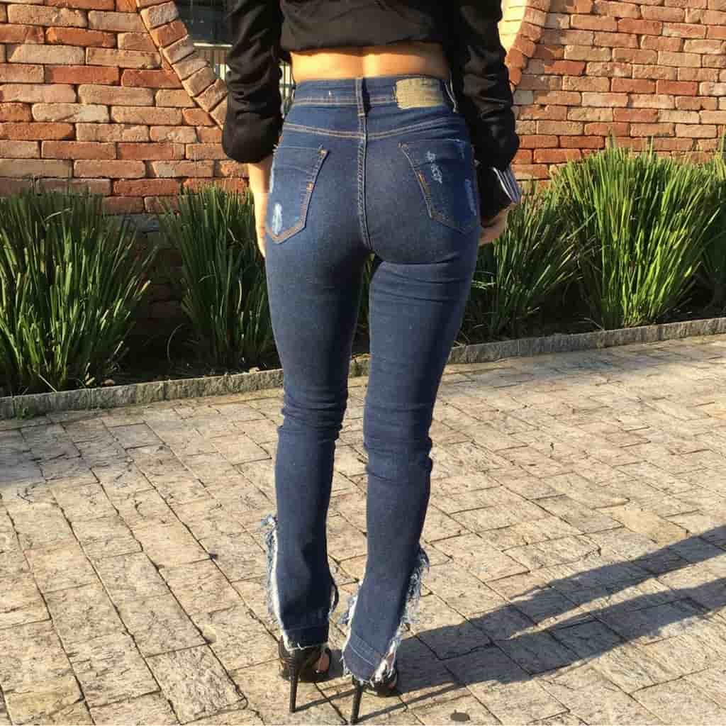 CALÇA JEANS DEGRANT ORIGINAL DENIM FRANJAS NA BARRA