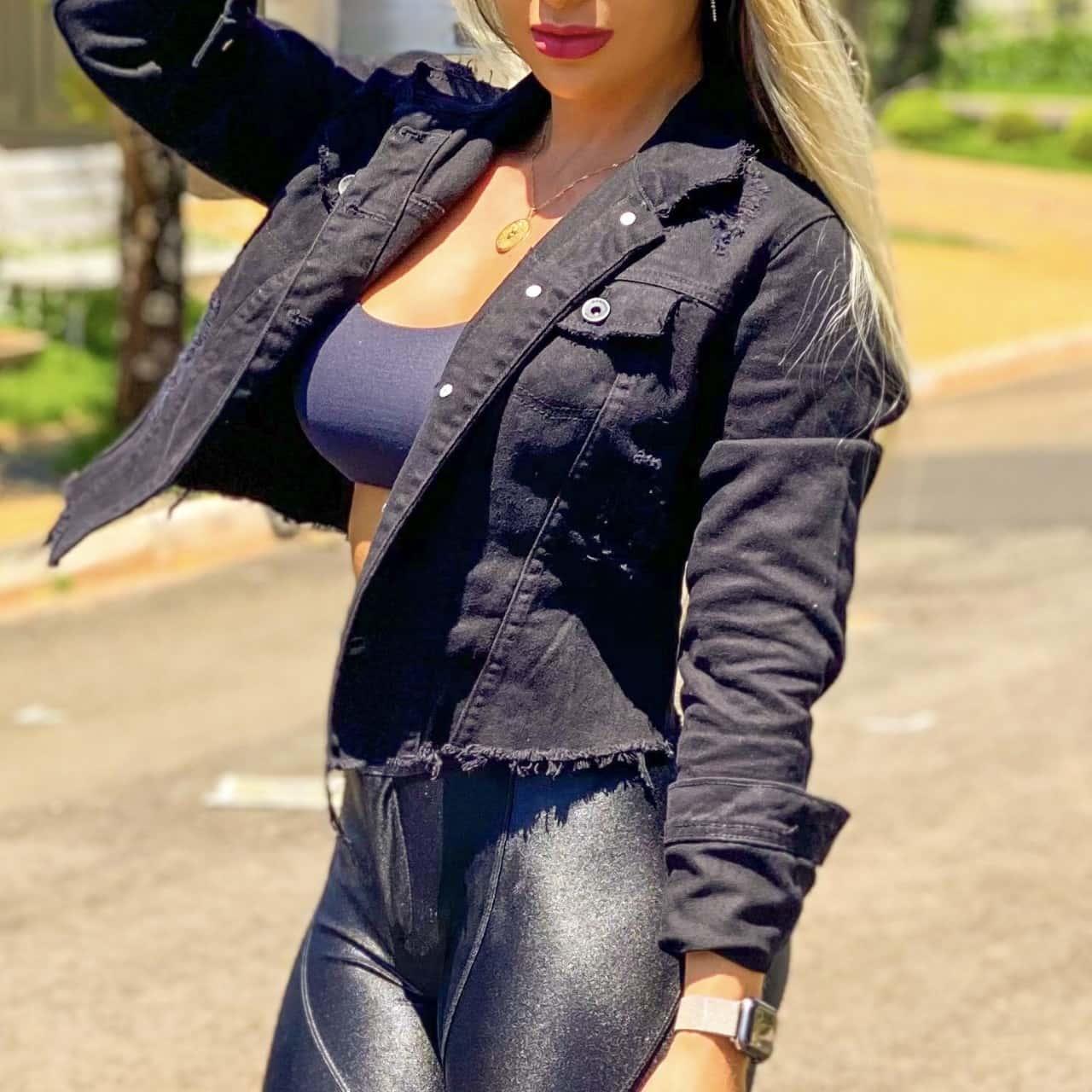 Jaqueta Cropped Preta
