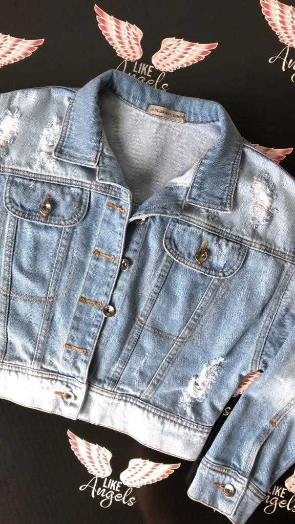 Jaqueta Jeans Claro Babe