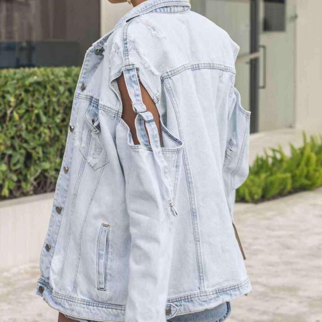 Jaqueta  Jeans Claro Over
