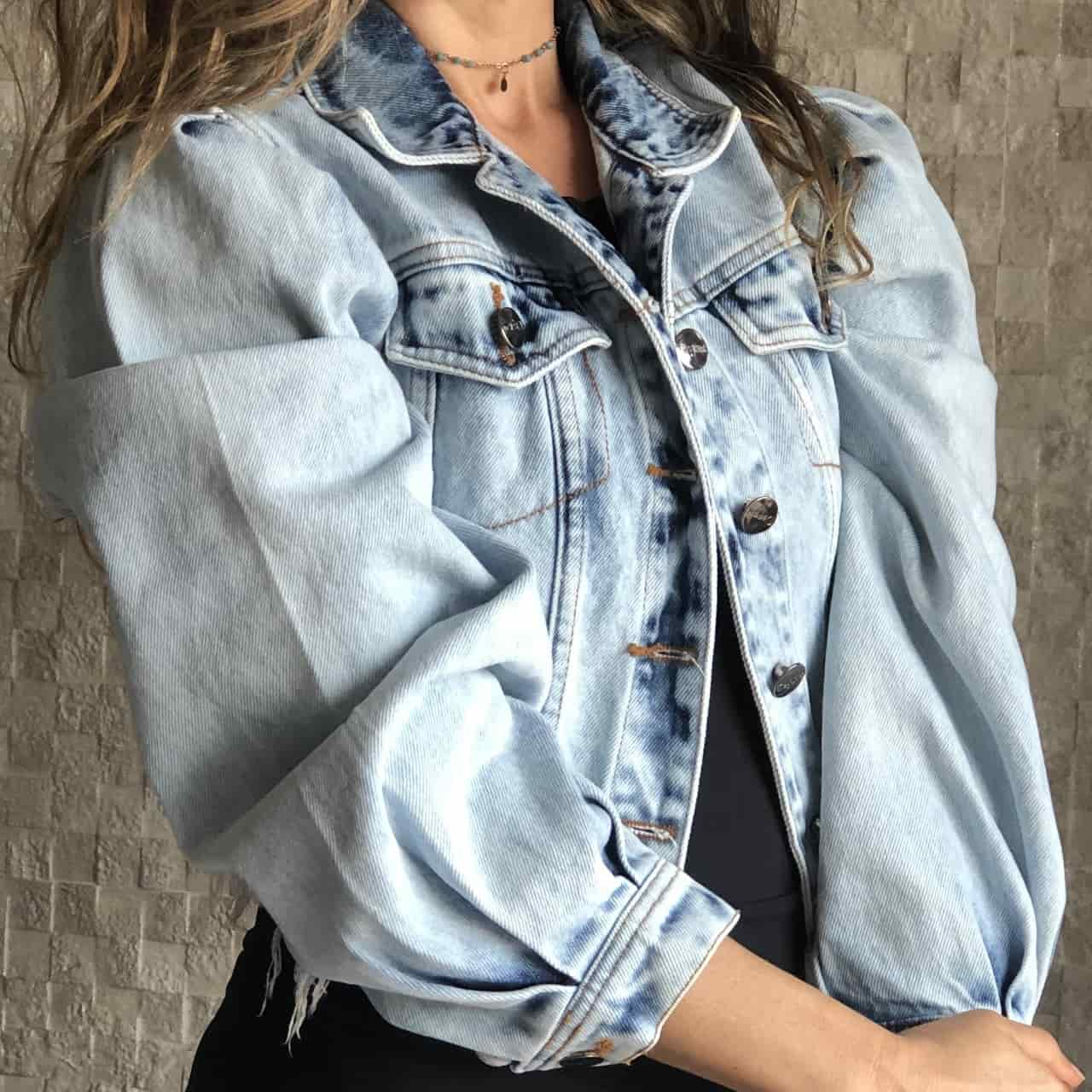Jaqueta Jeans Cropped Princess