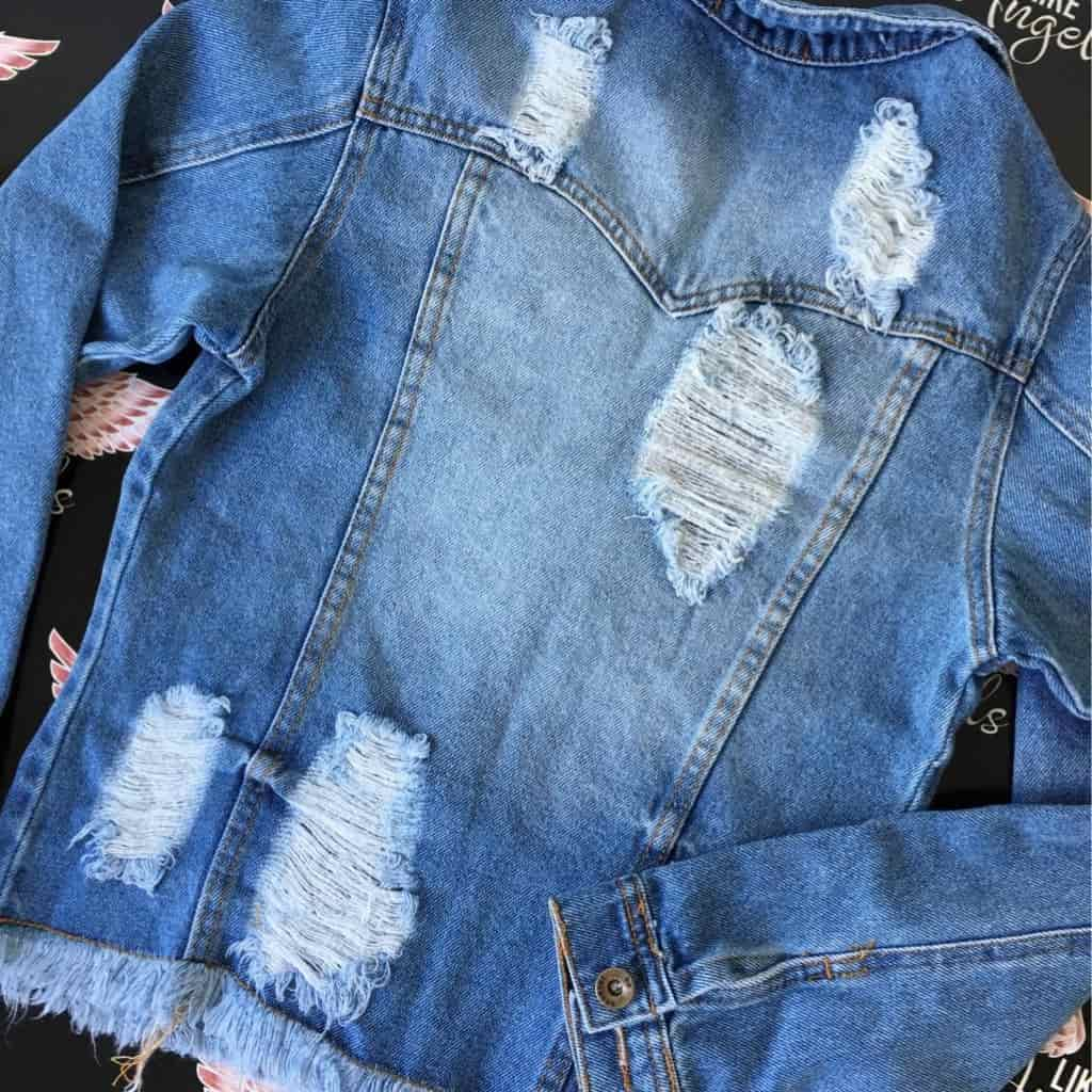 JAQUETA JEANS DESTROYED  CLASSIC