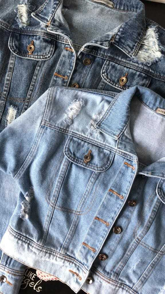 JAQUETA JEANS DEGRANT DESTROYED BABE