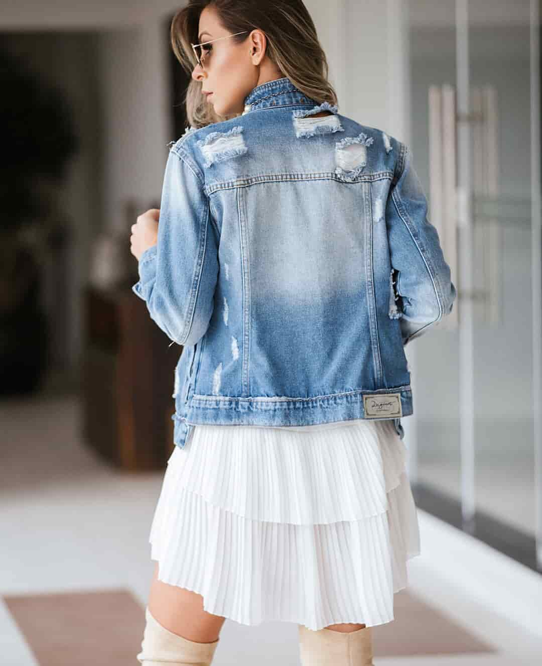 JAQUETA JEANS DEGRANT DESTROYED REVERSE