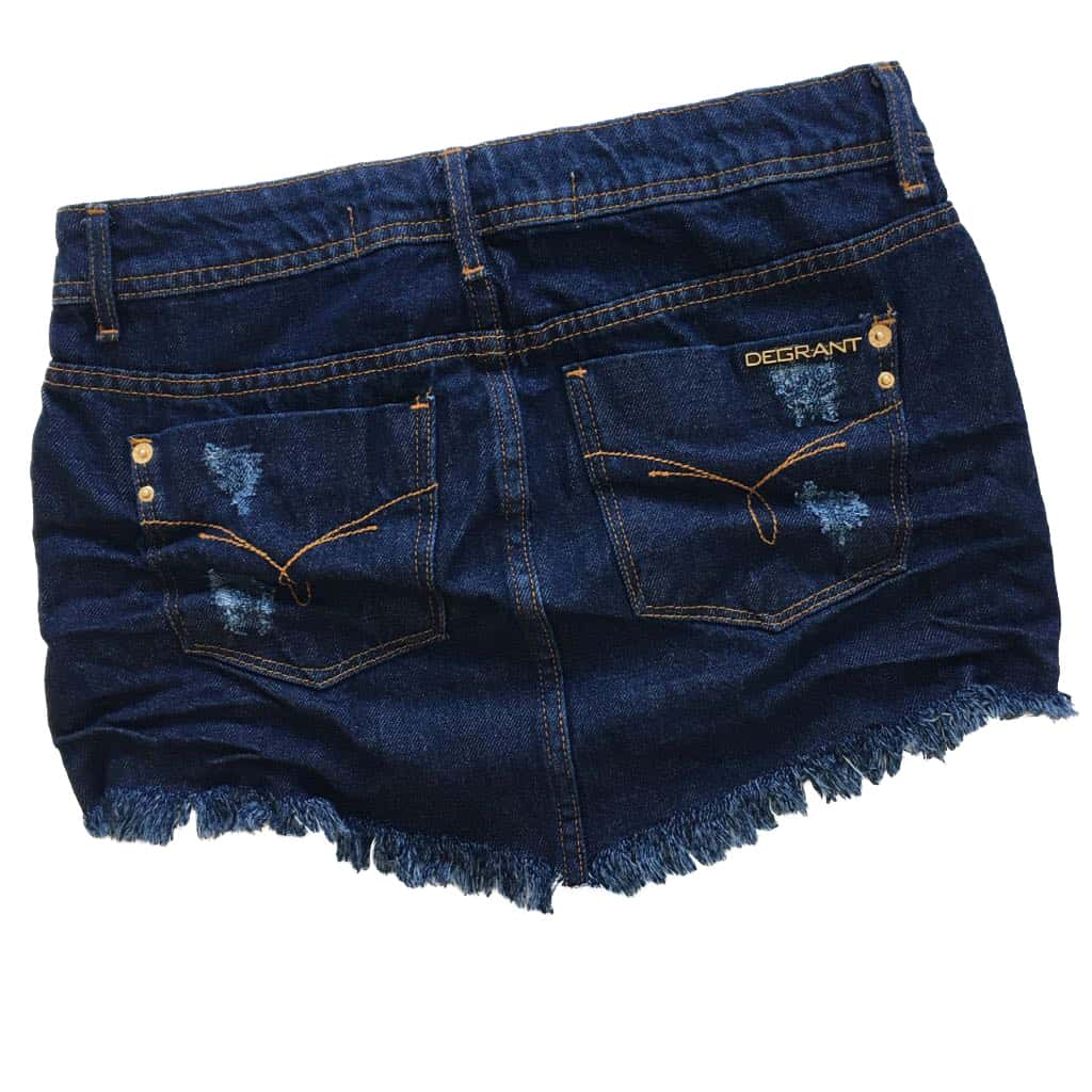 Saia Jeans Degrant De Bico Original Denim