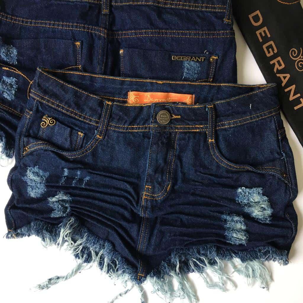 Saia Jeans Degrant De Bico Original Denim