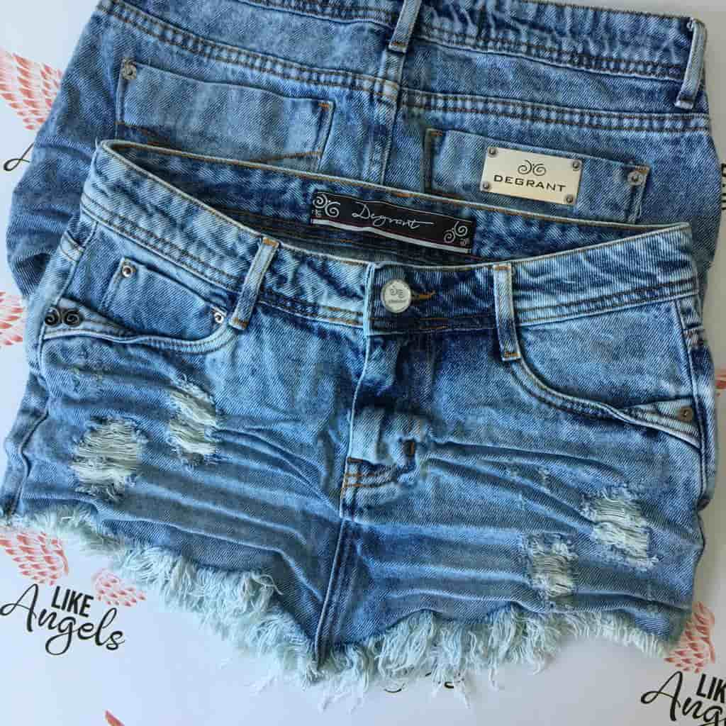 Saia Jeans Degrant Destroyed De Bico Used