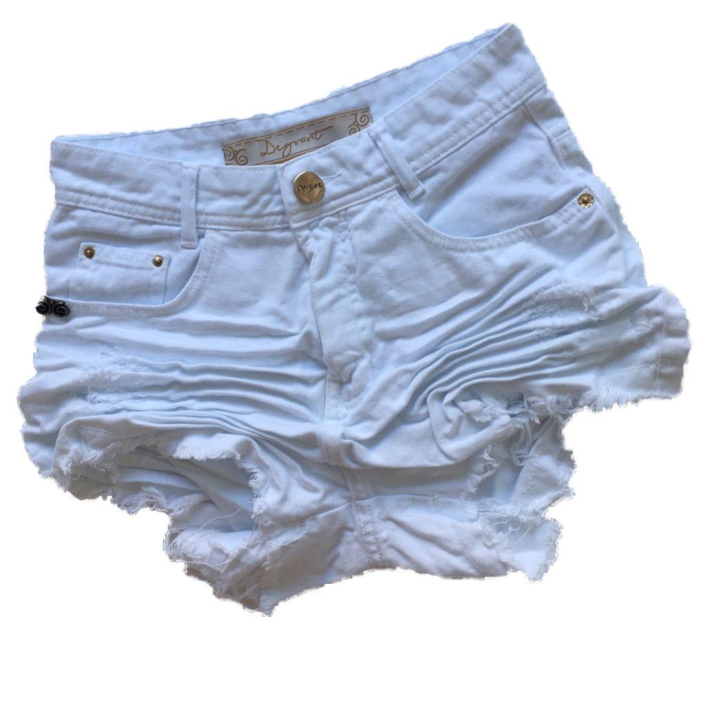 Short Feminino Degrant Cintura Alta Branco