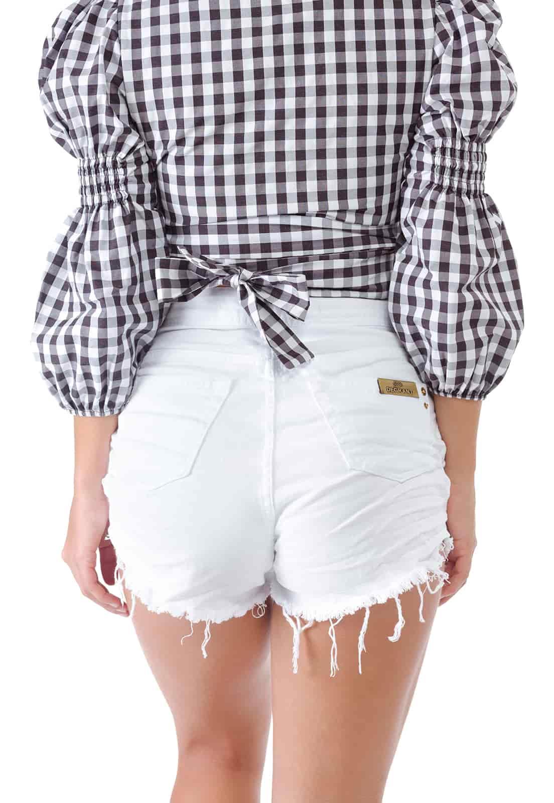 Short Branco Cintura Alta