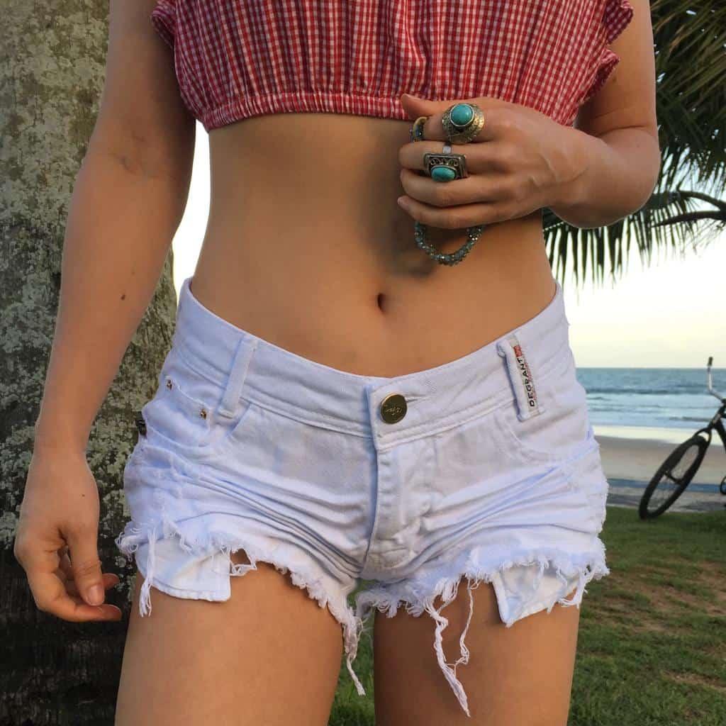 Short Feminino Degrant Destroyed Branco