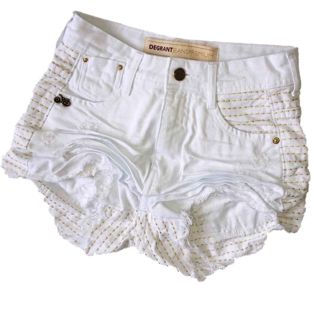 Short Degrant Shine Branco