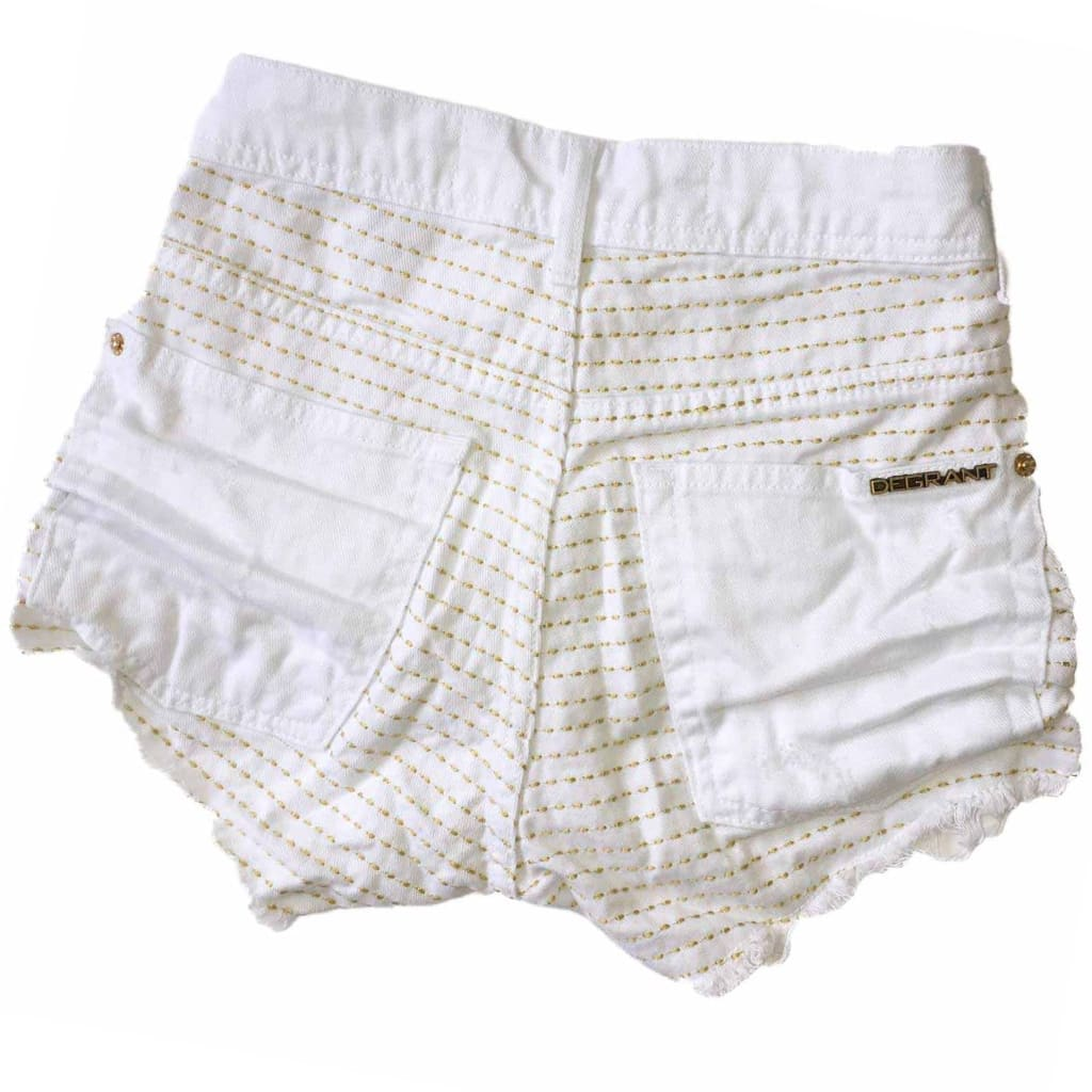 Short Branco Shine