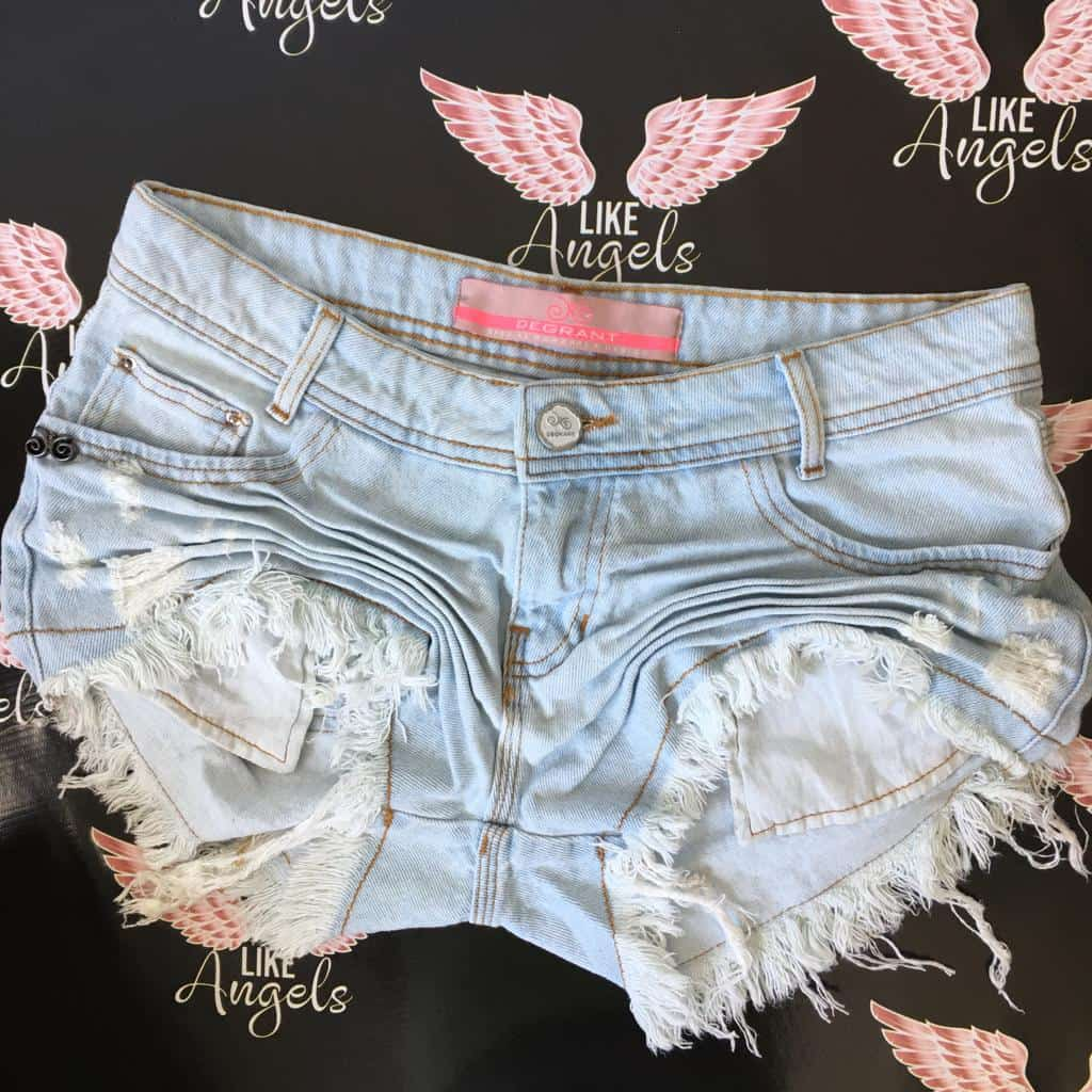 Short Jeans Claro Degrant Destroyed Delavè