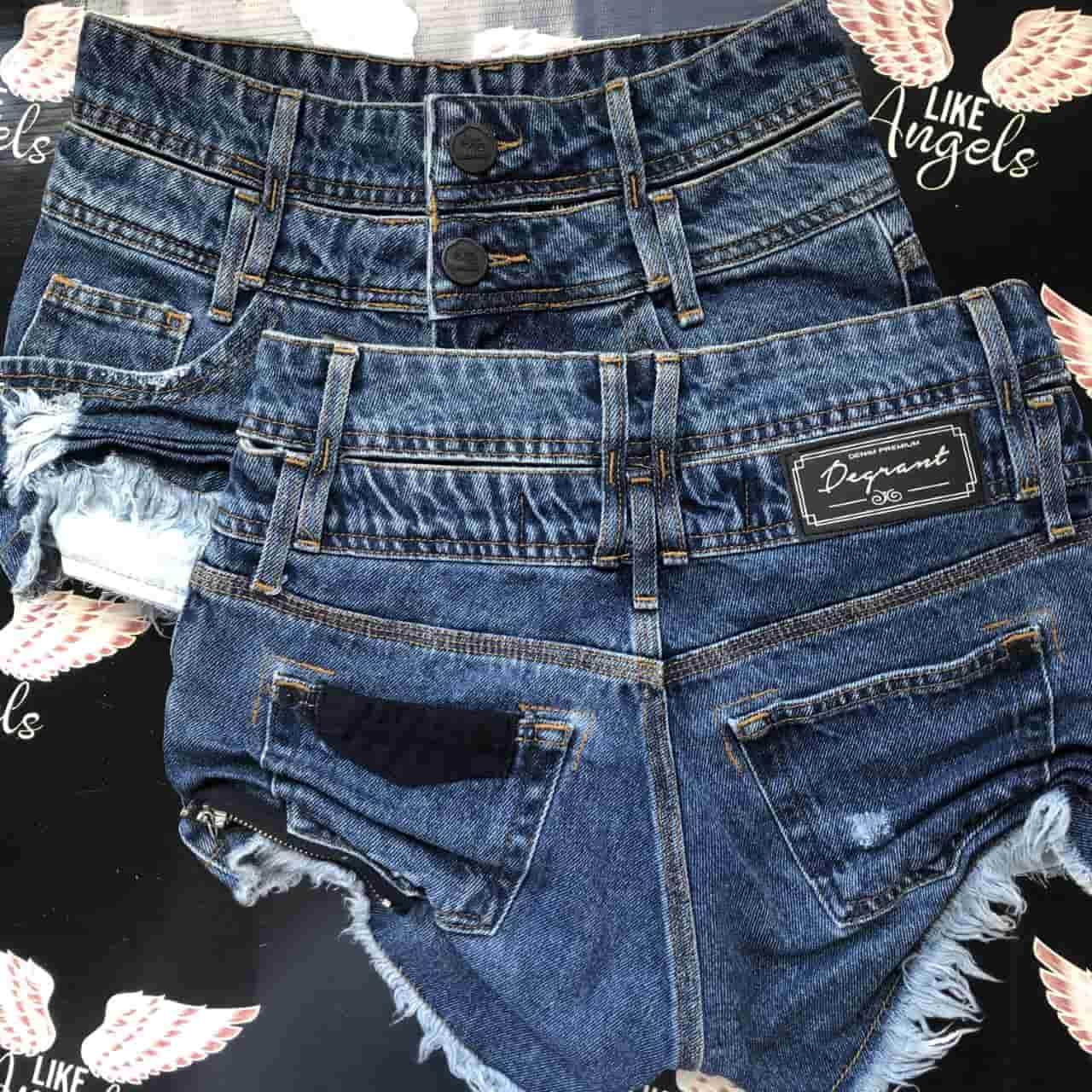 Short Jeans Cós Duplo In Blue
