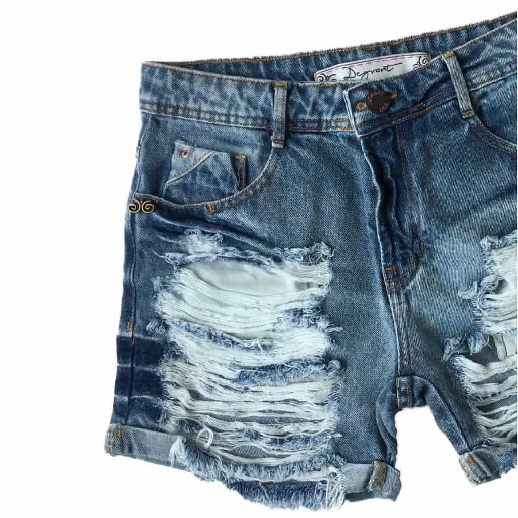Short Jeans Degrant Boyfriend Azul